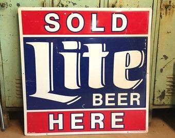 Vintage Original Miller Brewing Company Retail Sign BIG