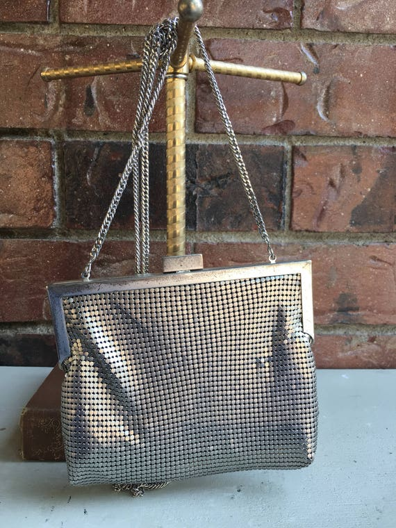 1980's Whiting and Davis Silver Metal Mesh Evening