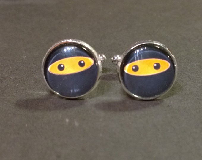 The Office Ninja,  Glass domed Cufflinks