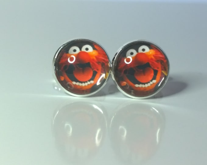 """The Muppets """"Animal""""  Glass domed Retro Cufflinks..."""