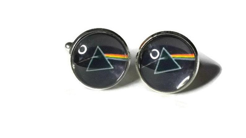 Retro  Rock Cufflinks Pink Floyd/'s The Dark Side of The Moon Album Cover