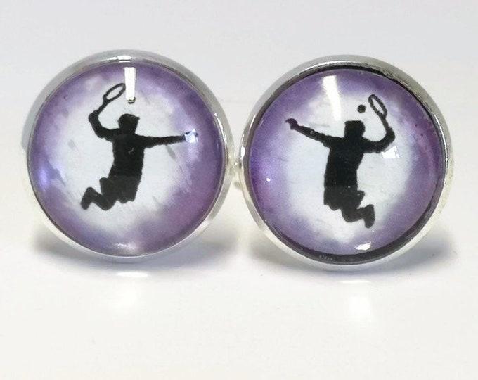 Tennis, Glass domed cufflinks,