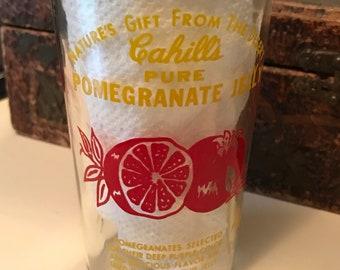 Vintage Rare 1958 Cahill's Pure Pomegranate Jelly Jar