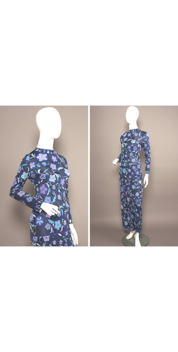 PUCCI 60s Purples PSYCHEDELIC Flowers Maxi Dress U