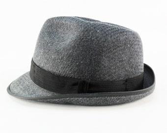 Vintage Men s Hats Fedora Hat Hipster Hat Vintage Unisex Hat Retro Soviet  hat Wool Fedora gray man s hat Elegant Hat Trilby hat Mafia hat 01cfd98f61e