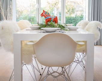 Bespoke Ivory Sheepskin For Dining Chairs Chair Covers Rug Set Of 2468 Or More Wedding Decor Party Entertaining