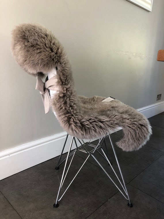 Excellent Bespoke Ivory Sheepskin For Dining Chairs Chair Covers Sheepskin Rug Set Of 2 4 6 8 Or More Wedding Decor Party Entertaining Andrewgaddart Wooden Chair Designs For Living Room Andrewgaddartcom
