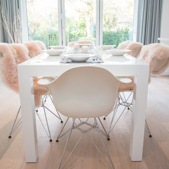 Enjoyable Pale Pink Sheepskin Rugs For Chair Covers Dining Bedroom Wedding Home Decor Nordic Home Fur Andrewgaddart Wooden Chair Designs For Living Room Andrewgaddartcom