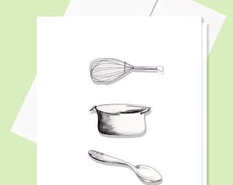 Kitchen Card, 4x5 Blank Greeting Card
