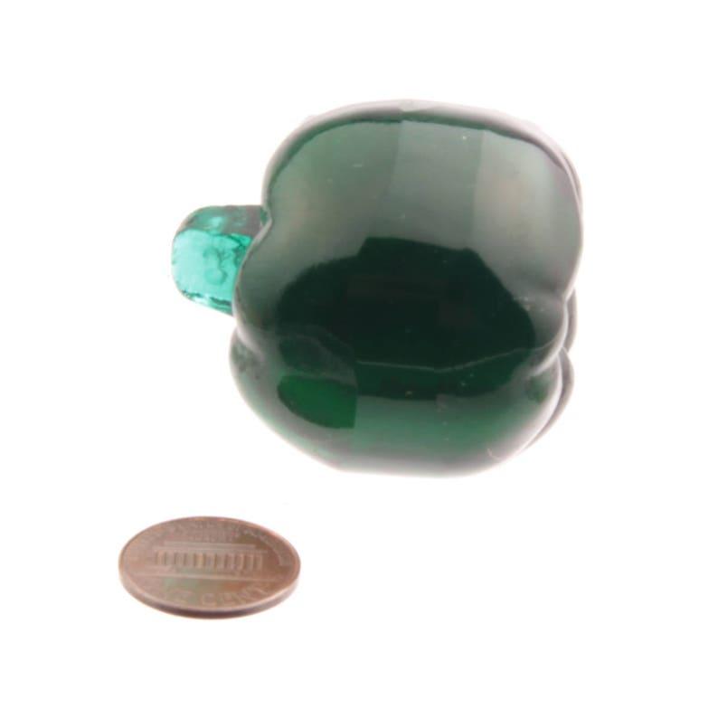 Green glass apple fruit lamp Chandelier lamp prism 45mm vintage Czech