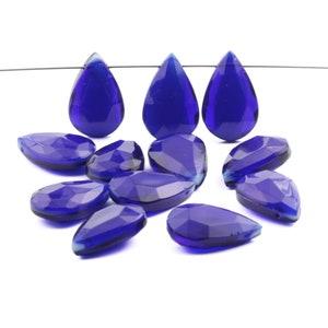 12 Vintage Czech purple glass grape Chandelier fruit lamp prisms beads 18mm