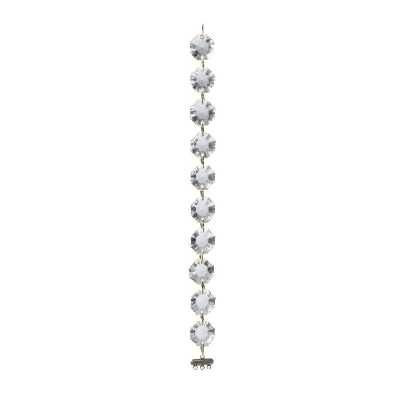 "Vintage white /""spear/"" pendant glass beads--13 mm."