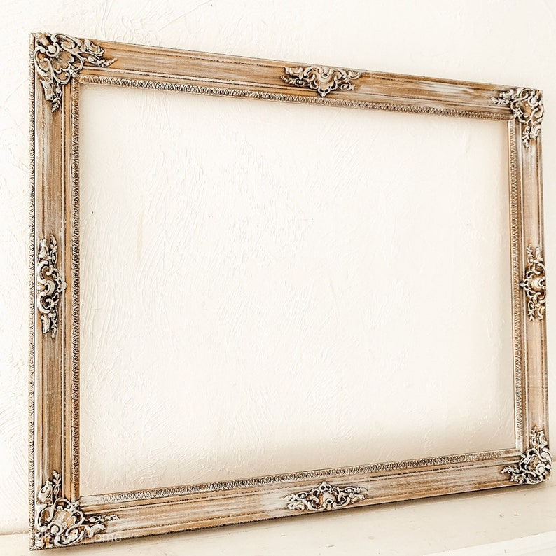 07dbaeb2d5985 Chalk Painted Large Mirror Gold Baroque Mirror Leaning