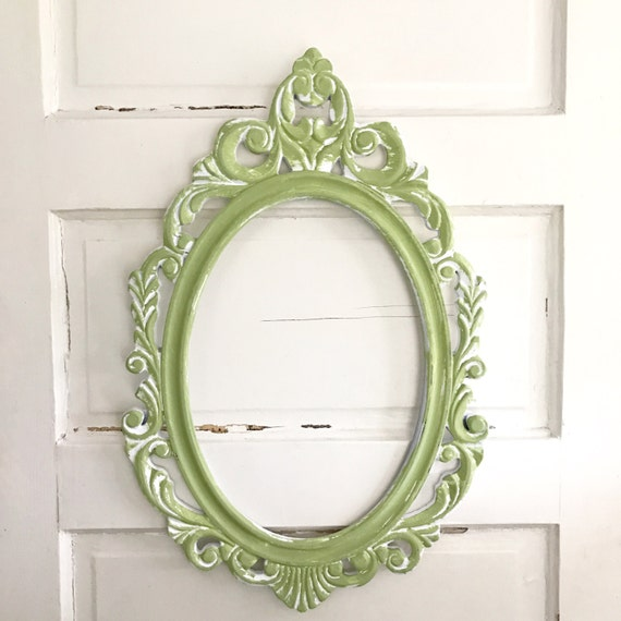 Oval Wall Frame Shabby Chic Decor Wedding Picture Frame   Etsy