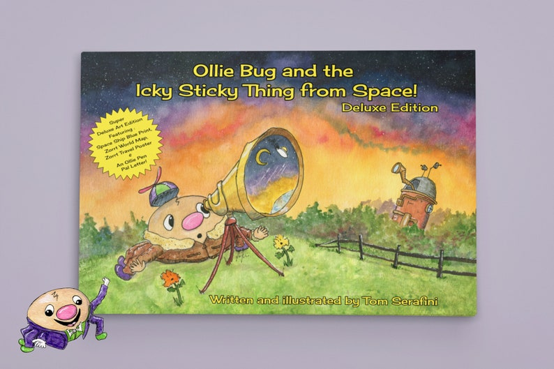 Hardcover Ollie Bug and the Icky Sticky Thing From Space image 0