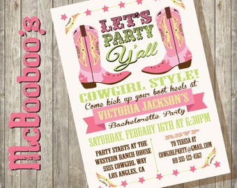 cowgirl western bachelorette party invitations party cowgirl style with these awesome invitations