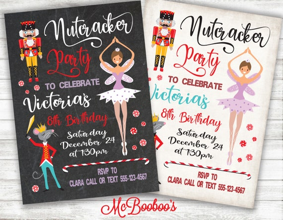 cfef51842d Nutcracker Ballet Christmas BIrthday Party. Choose chalkboard