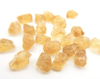 Raw citrine drilled stones for jewelry making 2//5//10//20 pieces options for november birthstone DIY crystal yellow golden citrine bead gemstone.