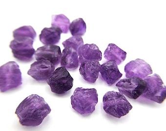 Raw AMETHYST Gemstone, Dianty FEBRUARY Birthstone, 1mm Hole Center Drill or Front Drill, Loose Gemstone, Retail & Wholesale (G02RAW)