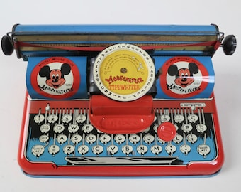Mickey Mouse Mouseketeer Fan Club Typewriter