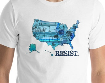 Political Democrat Blue Wave Resistance Vote Them Out Resist T Shirt