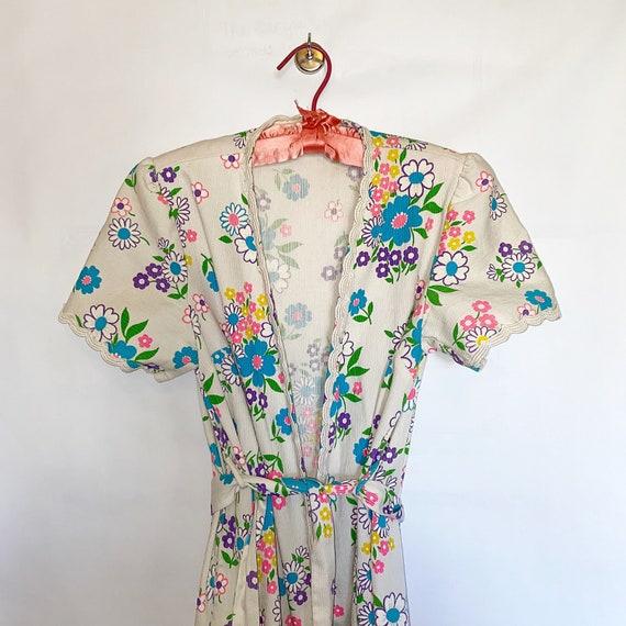 1960's floral house coat