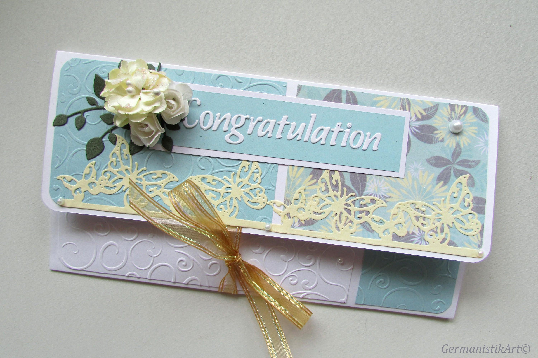 Congratulation Money Gift Holder Wedding Money Wallet Cash Etsy