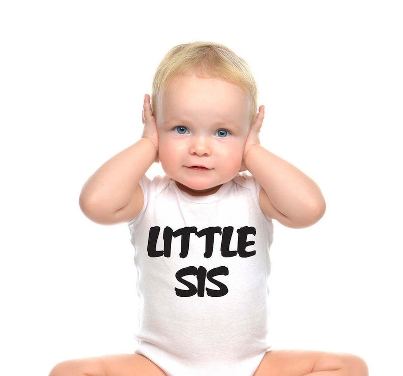 for all the girls with a bog brother or sister Baby onesie Little Sis