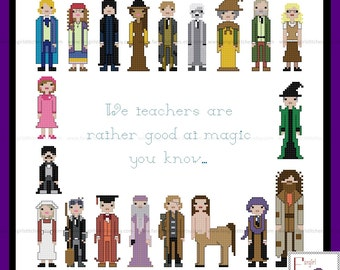 Unofficial Teachers of Hogwarts cross stitch pattern with alternative quote - PDF Pattern - INSTANT DOWNLOAD