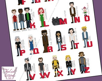 Dresden Files themed characer Alphabet Cross Stitch - PDF pattern - INSTANT DOWNLOAD