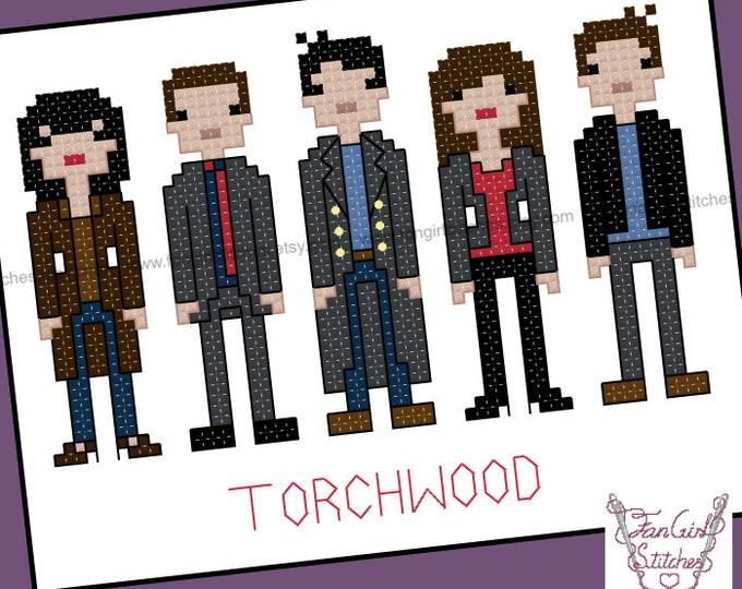 Torchwood inspired Cross Stitch pattern - PDF Pattern - INSTANT Download