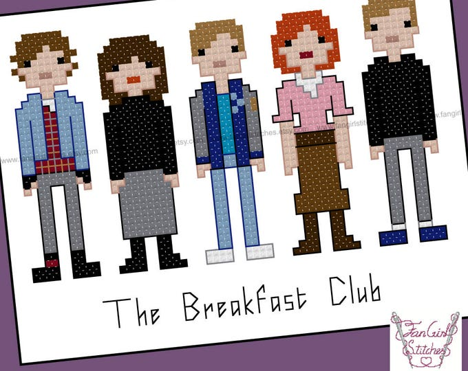 The Breakfast Club themed Cross Stitch - PDF pattern - INSTANT DOWNLOAD