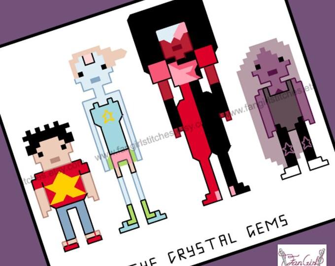 Steven Universe themed cross stitch pattern - PDF pattern - INSTANT DOWNLOAD