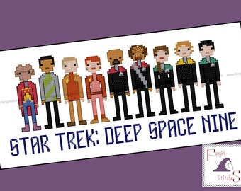 Star Trek Parody Deep Space Nine Cross Stitch - PDF Pattern - INSTANT DOWNLOAD