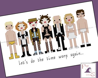 Rocky Horror Picture Show counted cross stitch - PDF Pattern - INSTANT DOWNLOAD