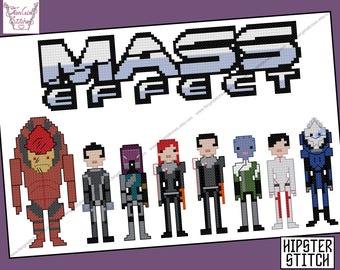 Mass Effect Parody Cross Stitch - PDF Pattern - INSTANT DOWNLOAD