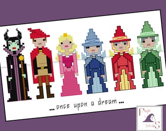 Sleeping Beauty Cross Stitch - PDF Pattern - INSTANT DOWNLOAD