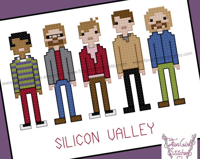 Silicon Valley themed Cross Stitch - PDF pattern - INSTANT DOWNLOAD