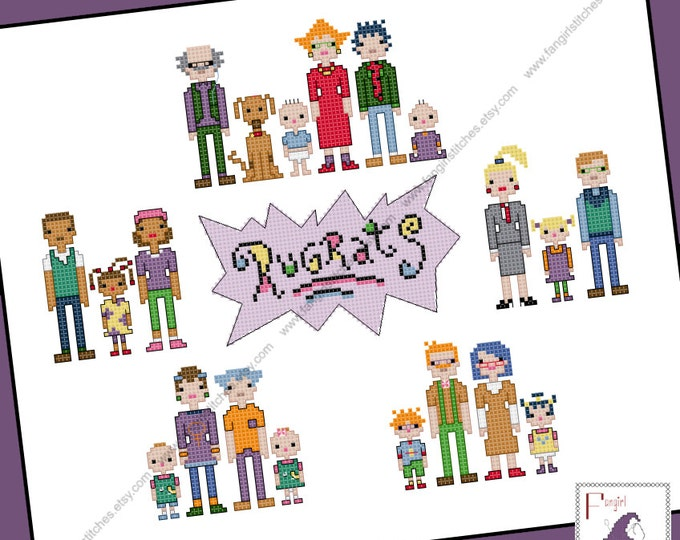 Rugrats Families Cross Stitch - PDF Pattern - INSTANT DOWNLOAD