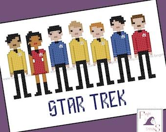 Star Trek Parody The Motion Picture Cross Stitch - PDF Pattern - INSTANT DOWNLOAD