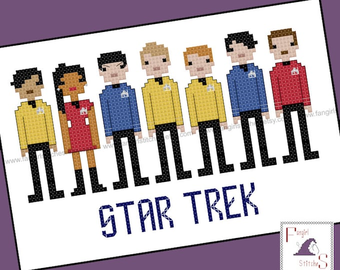Star Trek Parody The Motion Picture Cross Stitch - PDF Pattern - INSTANT DOWNLOAD