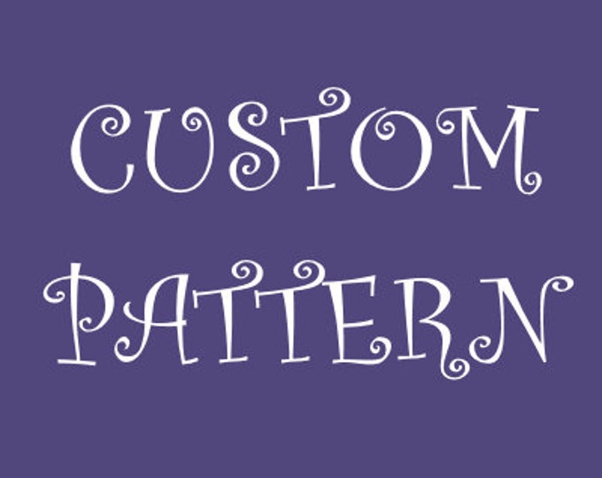 Customised Cross Stitch Pattern - Deposit