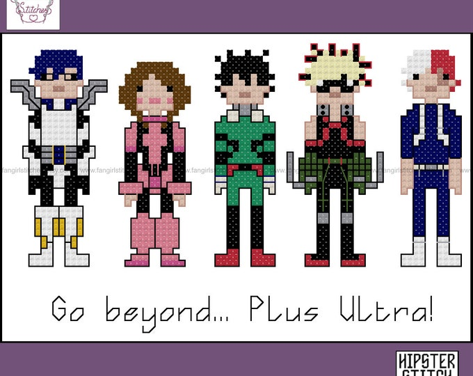 My Hero Academia inspired cross stitch pattern - PDF pattern - INSTANT DOWNLOAD