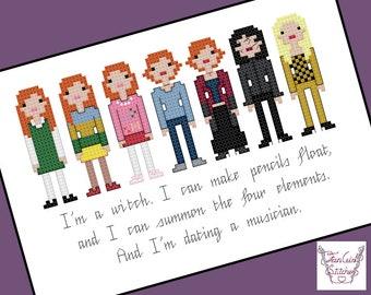 Willow Rosenberg -Buffy the Vampire Slayer themed Cross Stitch - PDF pattern - INSTANT DOWNLOAD