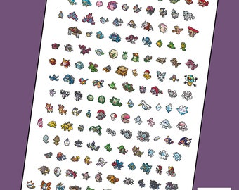 Pokemon Generation 5, V, Five, 156 new Pokemon parody Cross Stitch - PDF Pattern - INSTANT Download