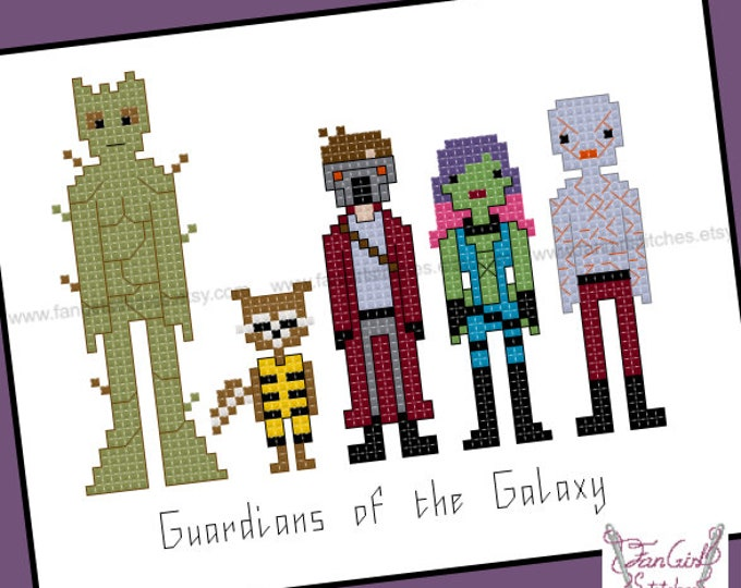 Guardians of the Galaxy themed cross stitch pattern - PDF pattern - INSTANT DOWNLOAD