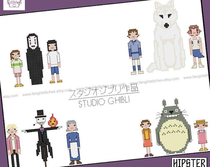 Studio Ghibli cross stitch pattern - PDF pattern - INSTANT DOWNLOAD
