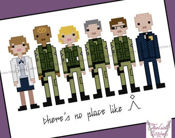 Stargate SG-1 themed Cross Stitch - PDF Pattern - INSTANT Download