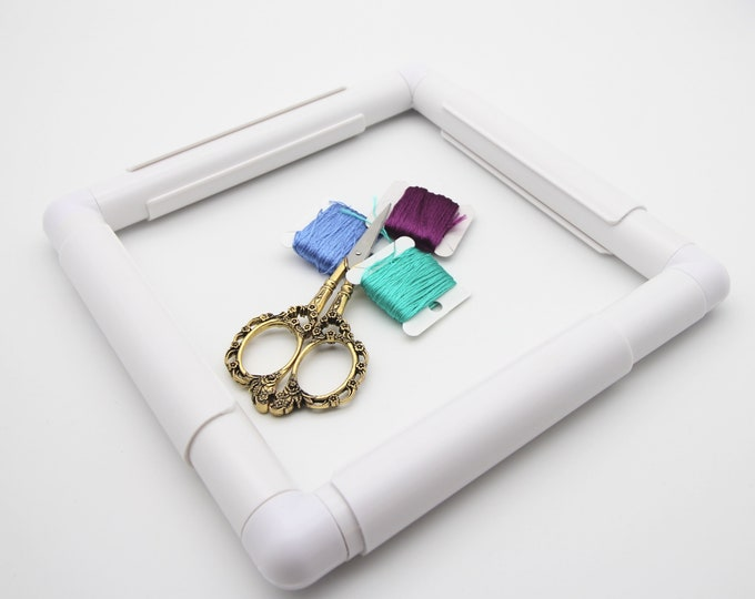 Embroidery frame plastic snap clip square