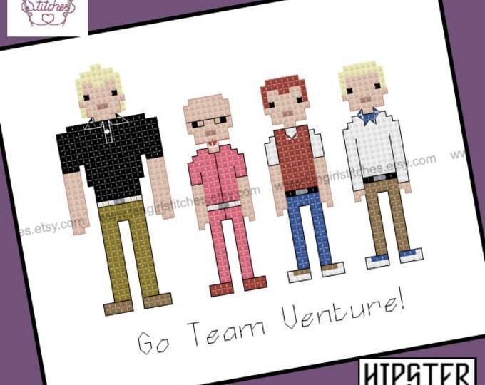 Venture Bros themed cross stitch pattern - PDF pattern - INSTANT DOWNLOAD